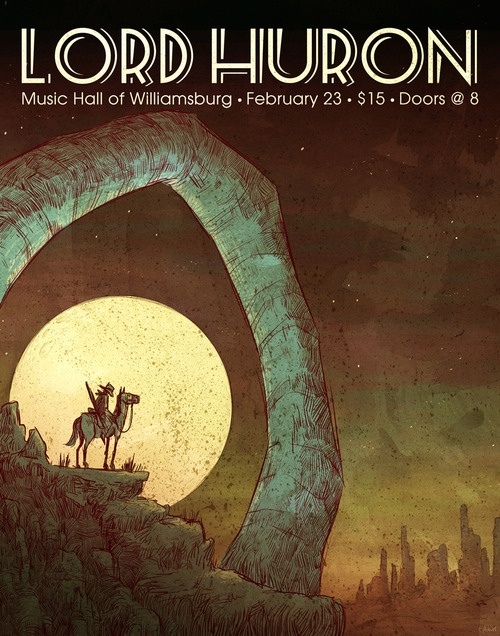 Lord Huron- event poster- Music Hall of Williamsburg