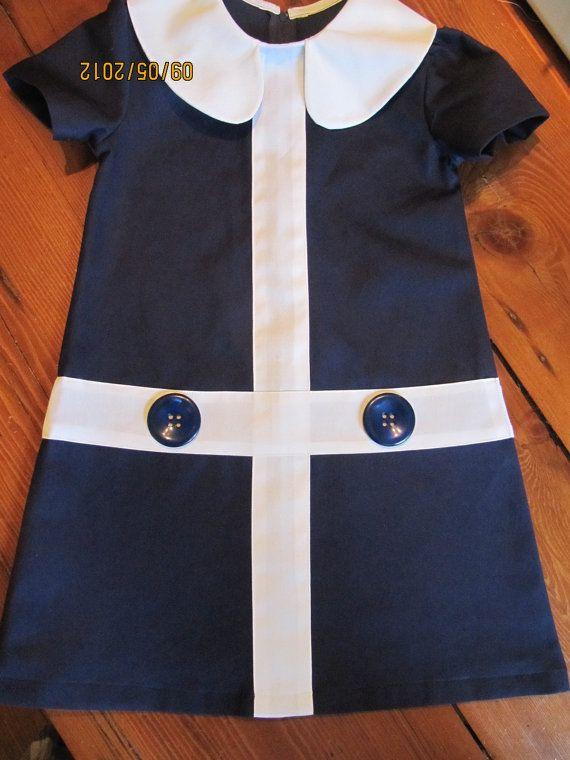 For Reese! 1960 Style Retro Navy Blue Lauren Dress children by faithworks4u, $48.00 etsy.com