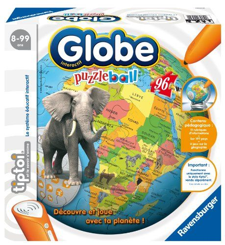 Ravensburger – 00539 – Jeu Éducatif Électronique – Tiptoi – Puzzleball – Globe Interactif | Your #1 Source for Toys and Games