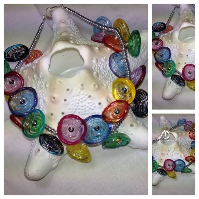 rainbow necklace by jennifer findlay