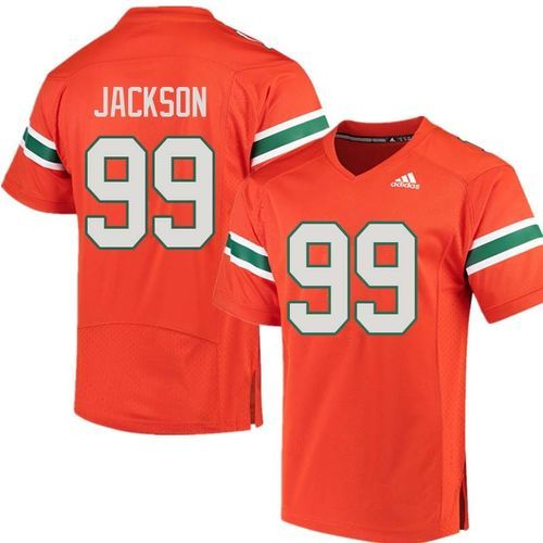 sports shoes b41de 53a49 Miami Hurricanes Joe Jackson #99 Adidas Football Replica ...