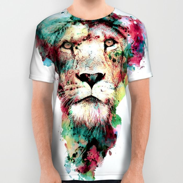THE KING All Over Print Shirt #lion #animals #wildlife #africa #watercolor #society6 #t-shirt