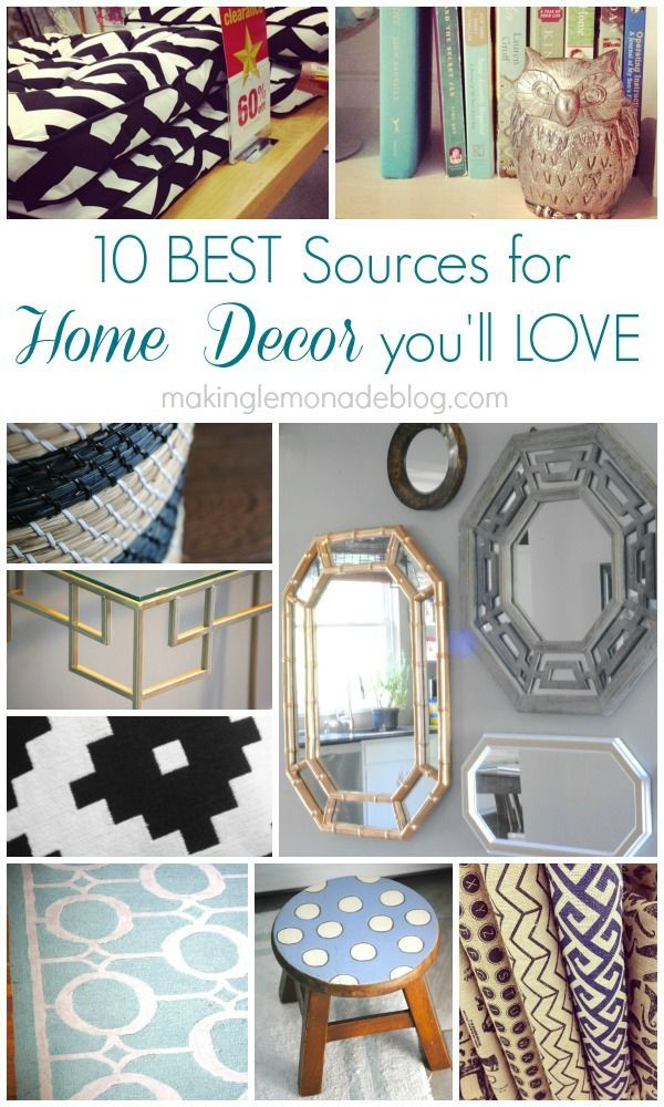 10 Sources for Quick and Inexpensive Home Decor #InexpensiveHomeDécor,
