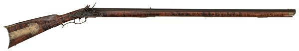 Kentucky Flintlock Rifle by G. Weiker - Cowan's Auctions