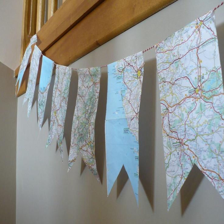 Old map garland
