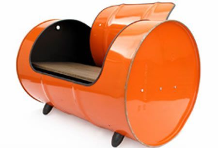 Oil barrel recycled into seats