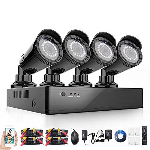 Rraycom 4CH Security Camera System 1080H DVR with 4x 2000TVL Superior Night Vision IR Cut Leds indoor/outdoor CCTV Camera(Without Hard Drive) http://ift.tt/2ivyaPy