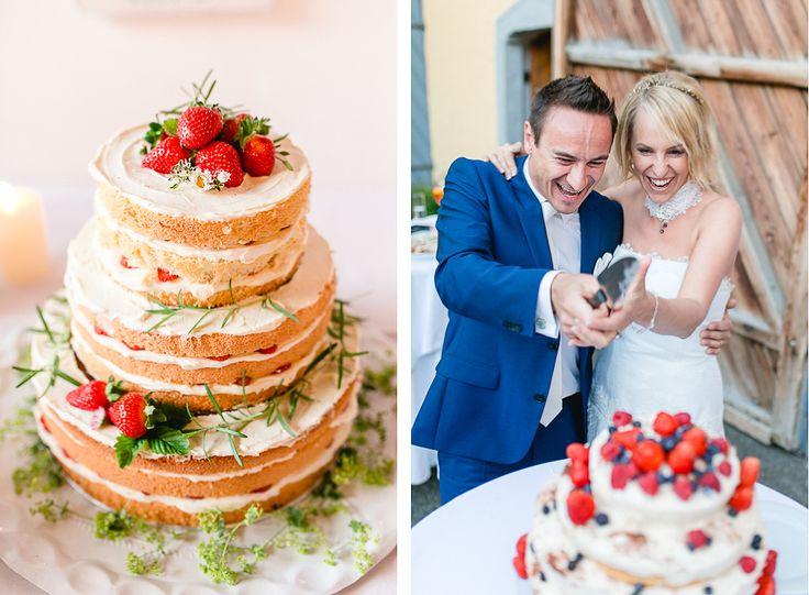 Hochzeitstorte Naked Cake, Silvia Fischer, Burnerhof Oberösterreich. Foto: Carolin Anne Fotografie