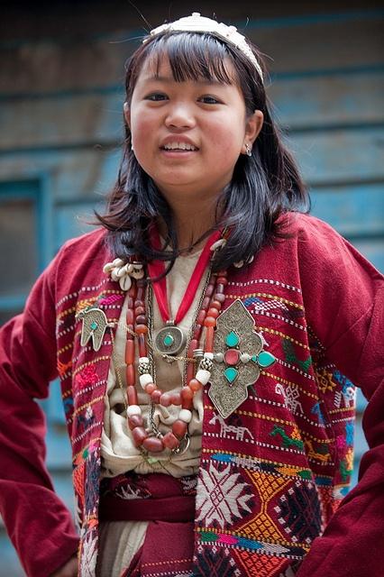 India ~ Arunachal Pradesh | Portrait of a Khawa woman. Wanghoo, Bugun. | © Frans Devriese