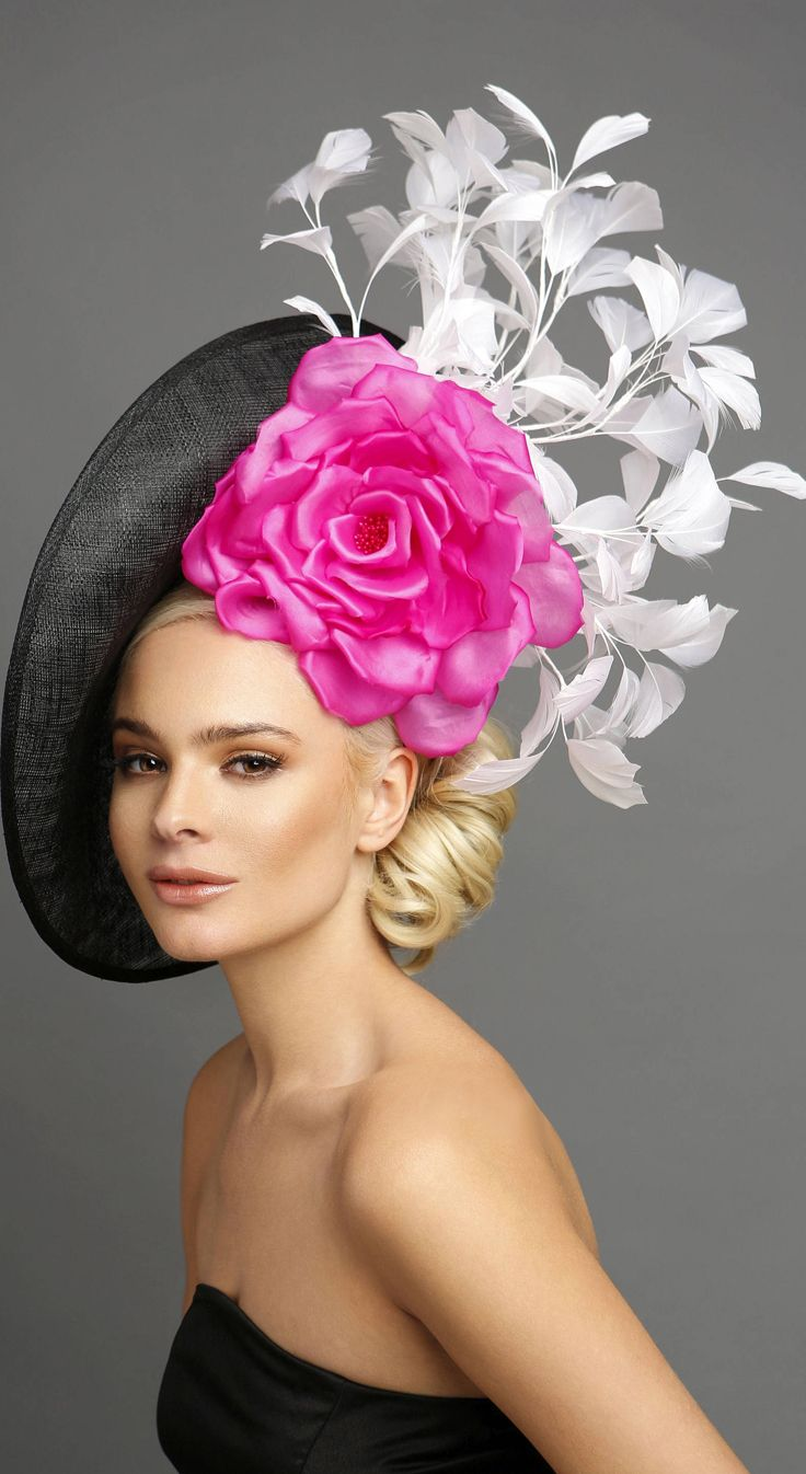 7fe035d922c58 Kentucky Oaks day means PINK. Pink Rose and White Feather Tree Hatinator  Fascinator Hat. Pretty Headpiece for Mother of the Bride or Racing Fashion