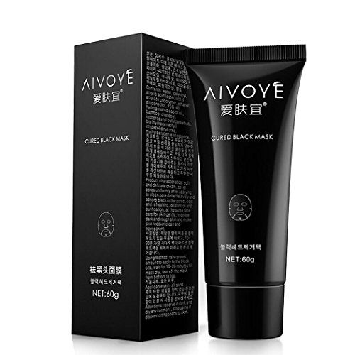 AFY AIVOYE Suction Black Mask Deep Cleansing Face Mask Tearing Resist Oily Skin Strawberry Nose Black Mud Face mask (pack of 2 boxes)