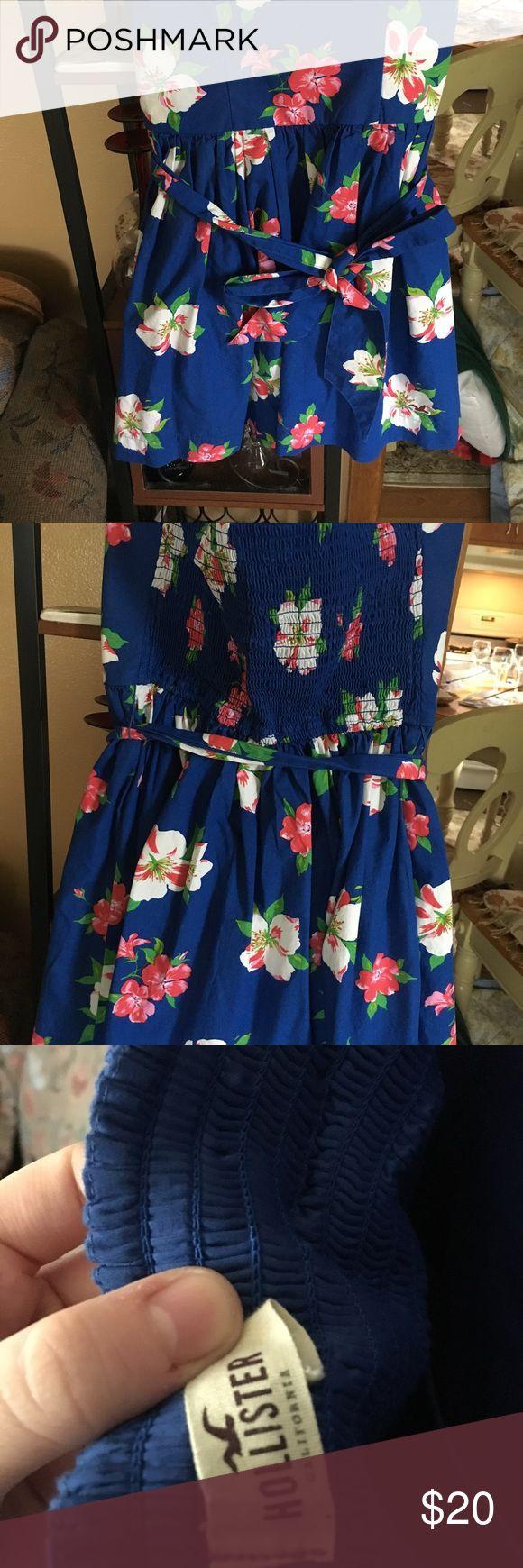 Hollister Strapless Sundress Hollister Sundress Medium size, lightly worn. Hollister Dresses Strapless