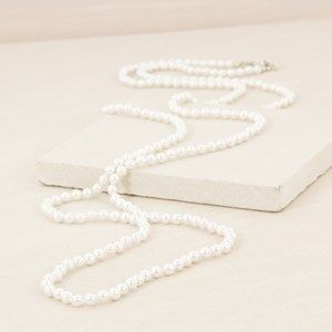 Fine 6mm Faux Pearl 150cm Necklace