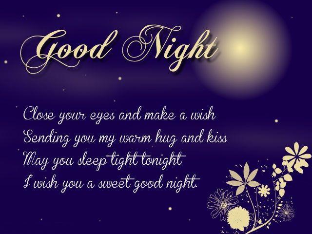 Good night love messages for boyfriend