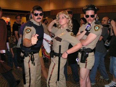 Planning to disguise yourself as a law enforcement officer or FEMA aid worker in the event of a major disaster is probably not a good idea.