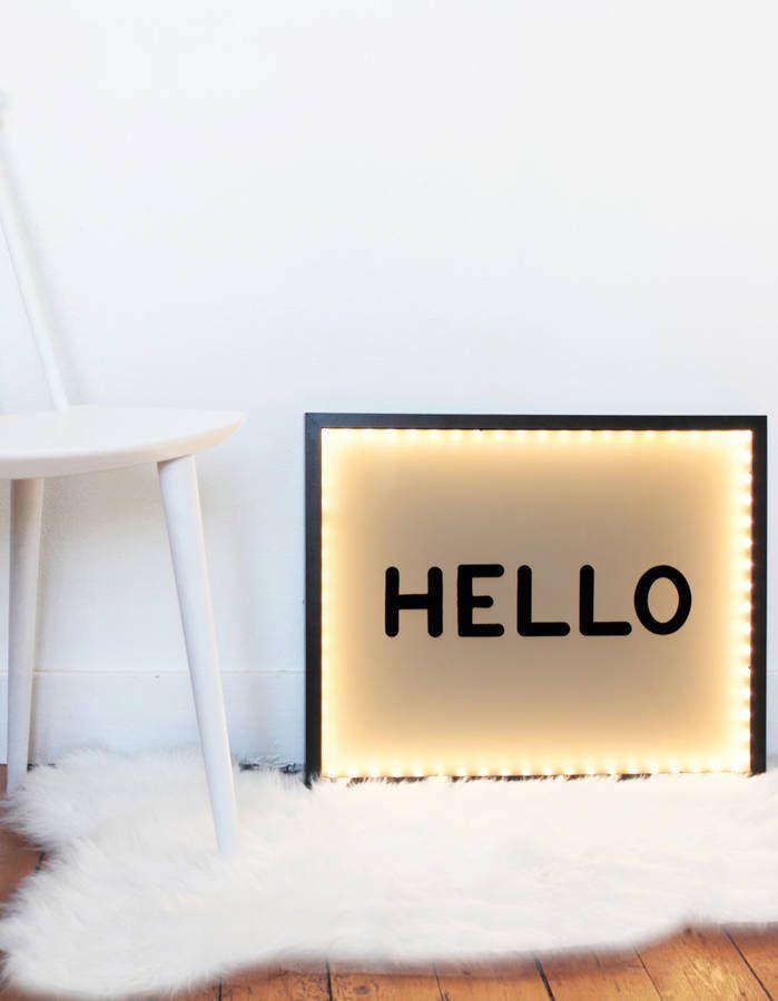 créez votre propre box lumineuse