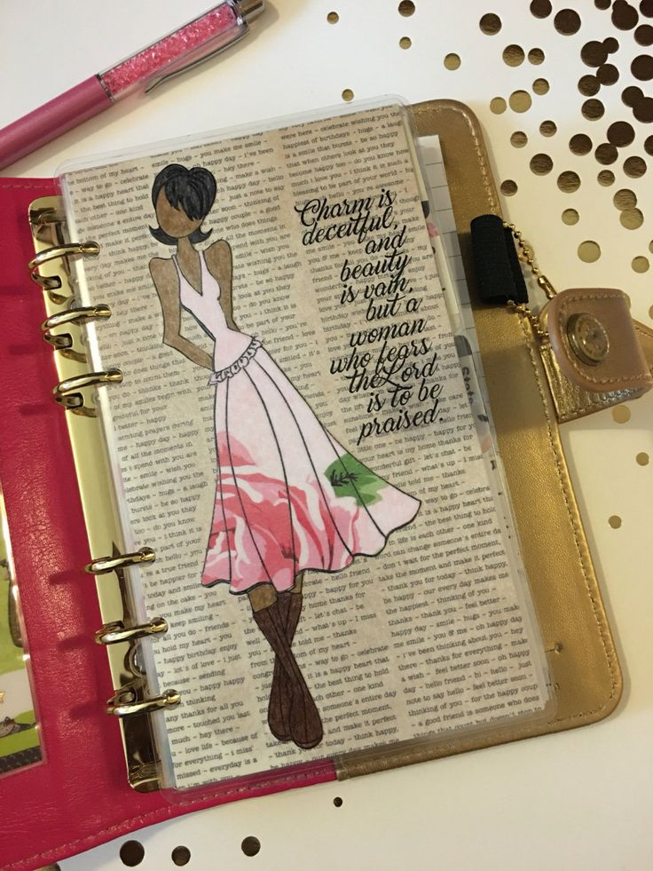 Planner Dashboard, PROVERBS 31, Prima Doll, Vintage Book, Personal Size - Kikki K, Filofax, Color Crush, Carpe Diem, Recollections Planner by planNIRVANA on Etsy