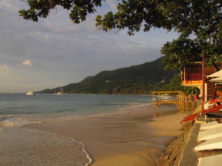 Beau Vallon beach in the Seychelles