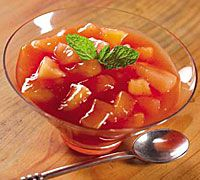 Golden Winter Fruit Compote with Rooibos Tea