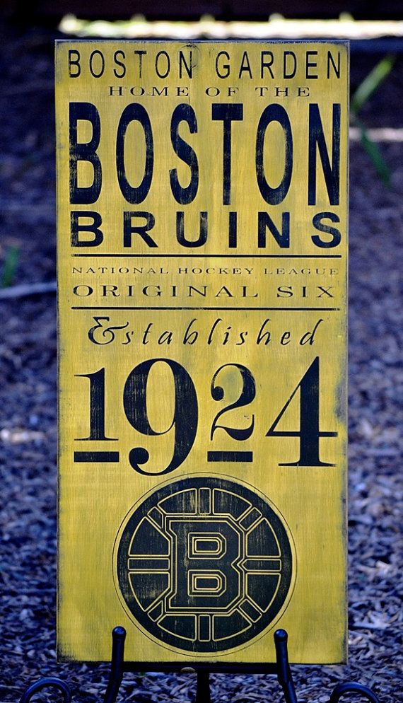Boston Bruins Hockey - Original 6 - Established 1924 wood sign