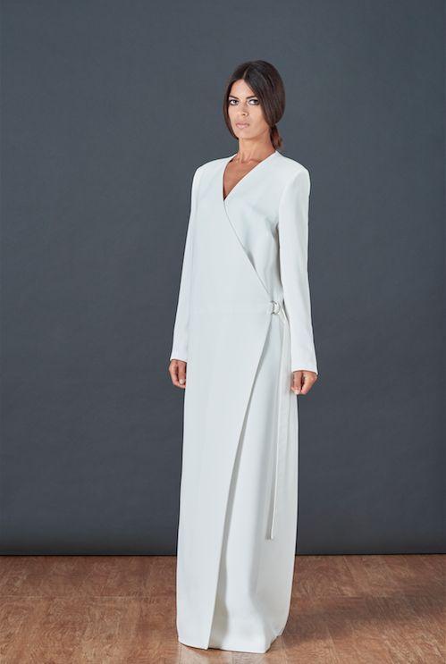 BOUGUESSA F/W15-16 Collection - Minimal Viscose Wrap Jacket Abaya