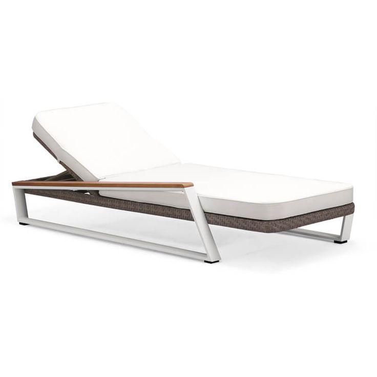 Leżaki, siedziska, leżanki : Teakman - meble ogrodowe z technorattanu leżak ogrodowy - Twoja Siesta