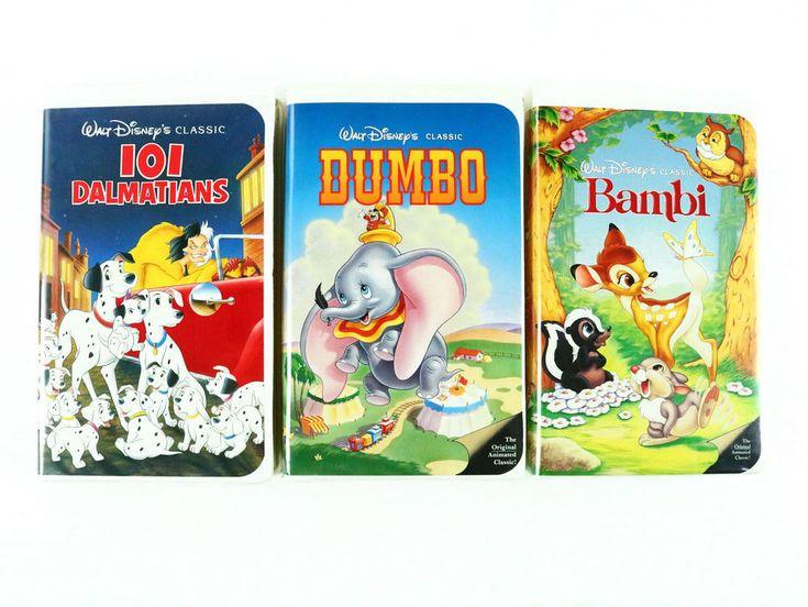 Lot of Disney's BAMBI - DUMBO VHS tape 101 DALMATIANS The Classics Black Diamond