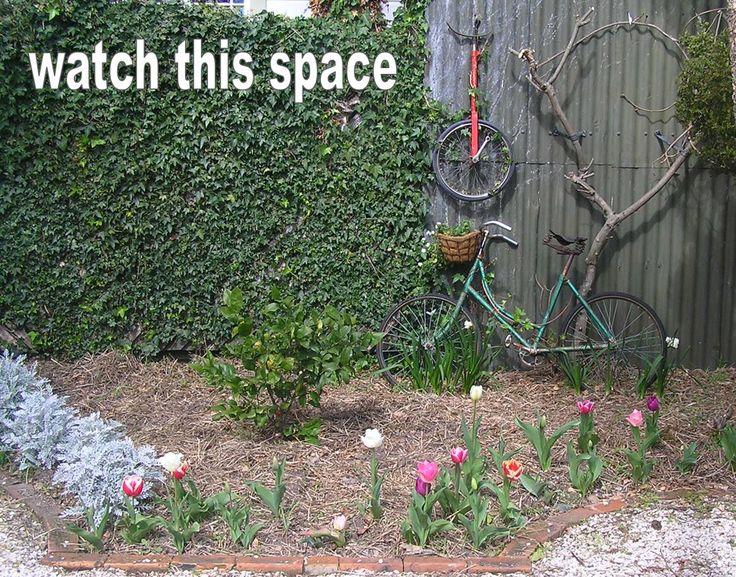 bicycle art garden wip