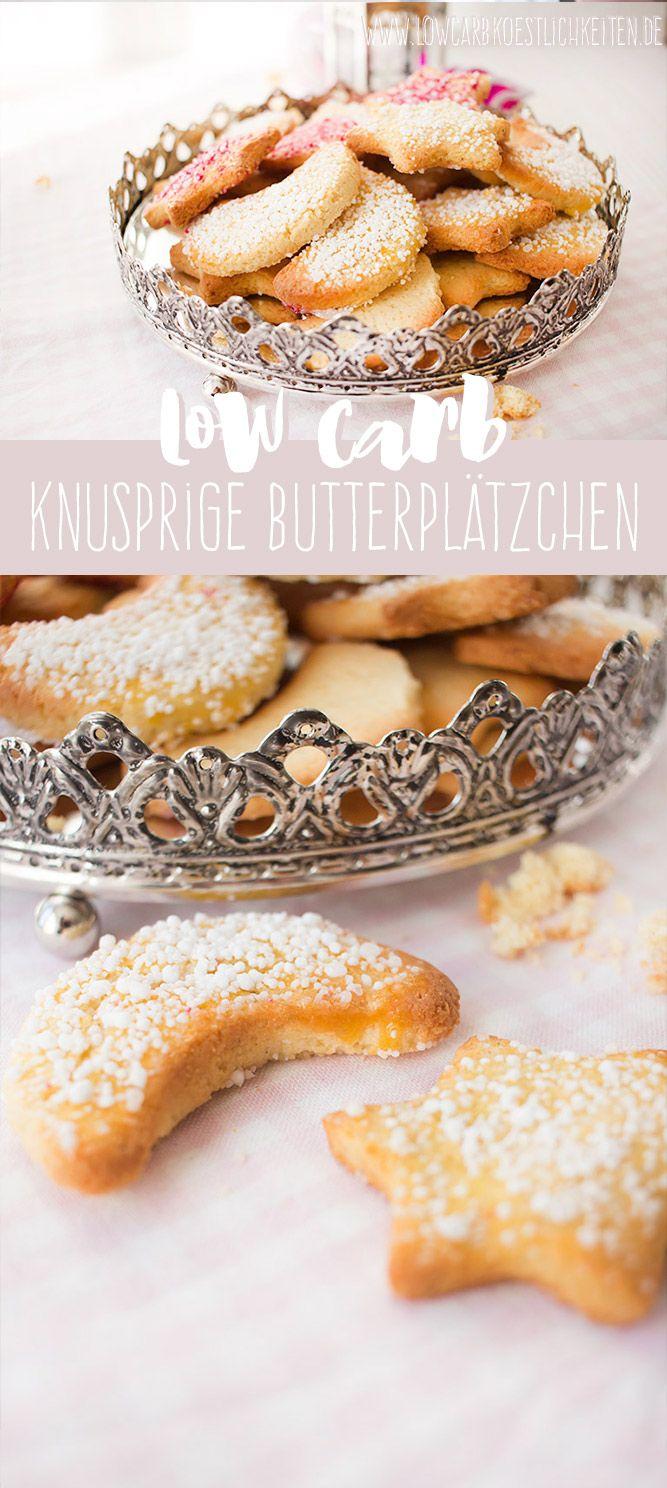 Low Carb knusprige Butterplätzchen zum Ausstechen - glutenfrei www.lowcarbkoestlichkeiten.de