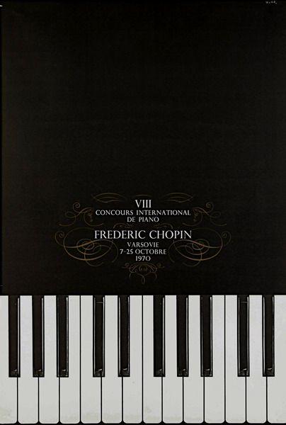 International Chopin Piano Competition 1970 Miedzynarodowy Konkurs Chopinowski 1970 Zelek Bronislaw Polish Poster