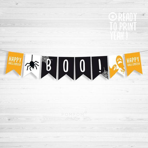 * BOO Happy Halloween fanions * Guirlande de fanions à imprimer TÉLÉCHARGEMENT NUMÉRIQUE INSTANTANÉ 4 FICHIERS FORMAT JPG 300 DPI  À noter : - Les couleurs peuvent varier selon l'écran, le papier utilisé ou l'imprimante - Il sagit dun achat numérique, aucun envoi postal et matériel non fourni  MODE DEMPLOI  - Choisissez votre fichier, et après lachat vous serez mené par email à la page de téléchargement - Téléchargez le fichier - Imprimez le (pour un meilleur résultat, utilisez du papier…