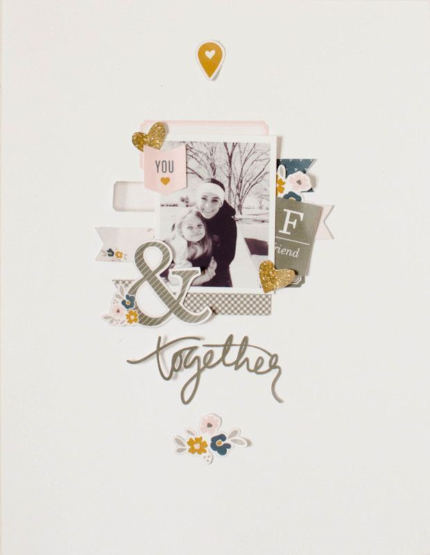 Papercrafting ideas: scrapbook layout idea. #papercraft #scrapbooking #layouts. friends | hybrid page by 3littleks at @studio_calico