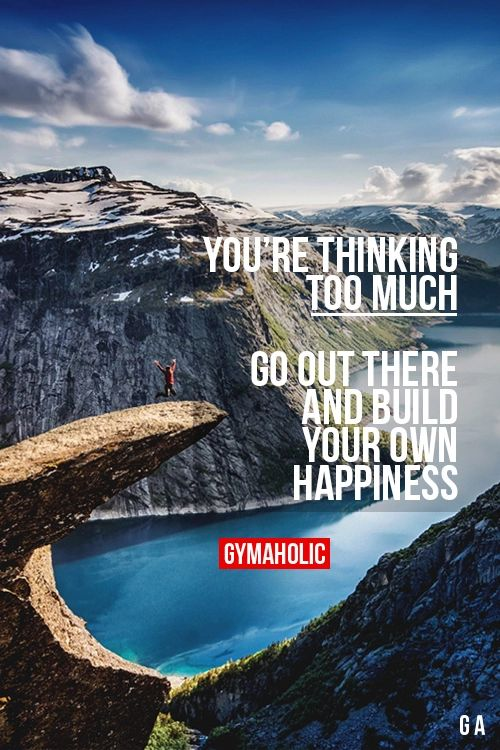 4fitnesssake:No one can give you happiness except for yourself!