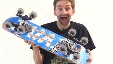 8 WHEEL SKATEBOARD HACKS | STUPID SKATE EP 98 – Braille Skateboarding: Source: Braille Skateboarding