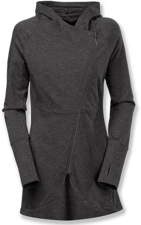 Dark Gray North Face Side Wrap Hoodie | Fashionista Tribe