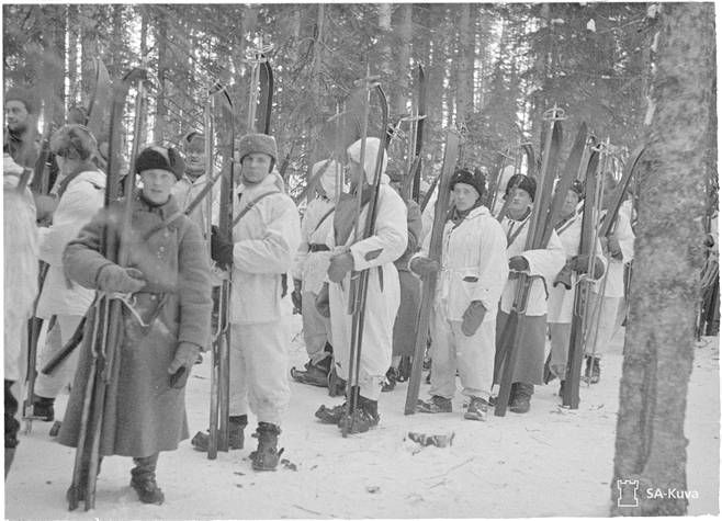 The Winter War was 30. 11.1939 - 13. 3.1940 took place between Finland and the Soviet Union war. Talvisota oli 30. 11.1939 – 13. 3.1940 Suomen ja Neuvostoliiton välillä käyty sota.-Photo:SA-kuva