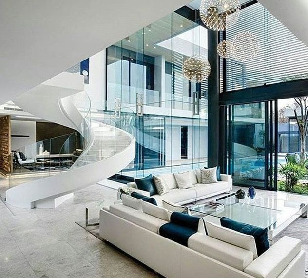 Modern Vs Contemporary Interior Design Best Of Contemporary Living Room With Spiral Staircase In 2020 Modern Houses Interior Modern House Design House Decor Modern