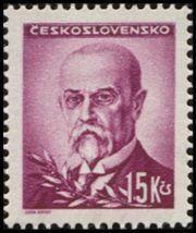 Znaczek: Tomáš Garrigue Masaryk (1850-1937), president (Czechosłowacja) (Portraits) Mi:CS 474,Sn:CS 304,Yt:CS 416,AFA:CS 330,POF:CS 427