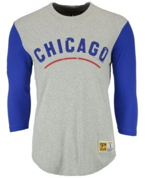 Mitchell & Ness Men's Chicago Cubs Scoring Position Raglan T-Shirt - Gray 3XL