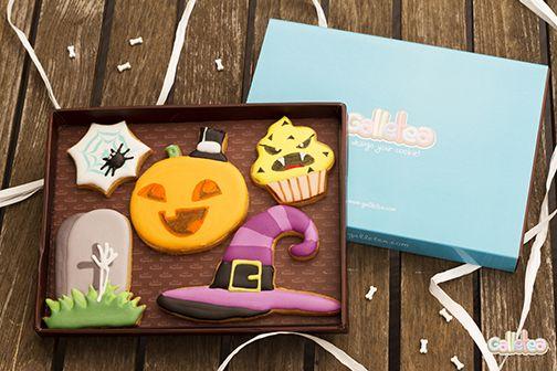 Pack de Halloween, diseño de Galletea.  http://www.galletea.com/galletas-decoradas/