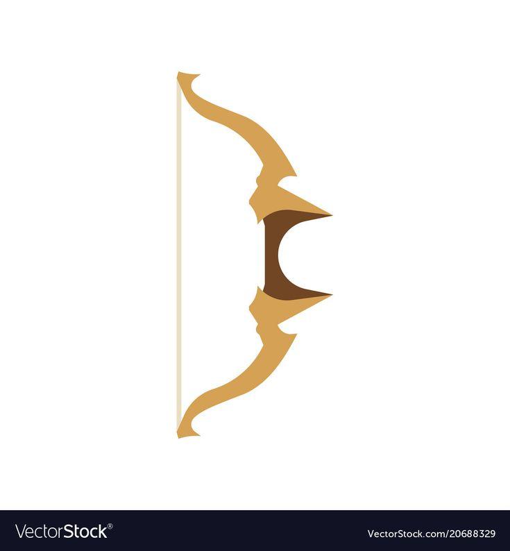 Fantasy Bow Cartoon Rpg Set Game Icon Arrow Vector Image On Vectorstock Game Icon Bow Vector Rpg