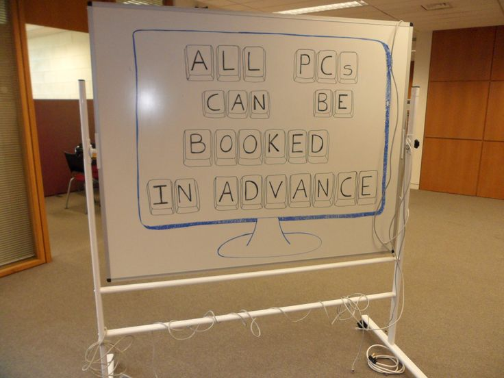 You can book a PC in advance