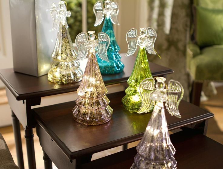 52 best valerie parr hill qvc images on pinterest valerie h203851 this set of 5 mercury glass angels illuminate and each comes with its own gift negle Choice Image