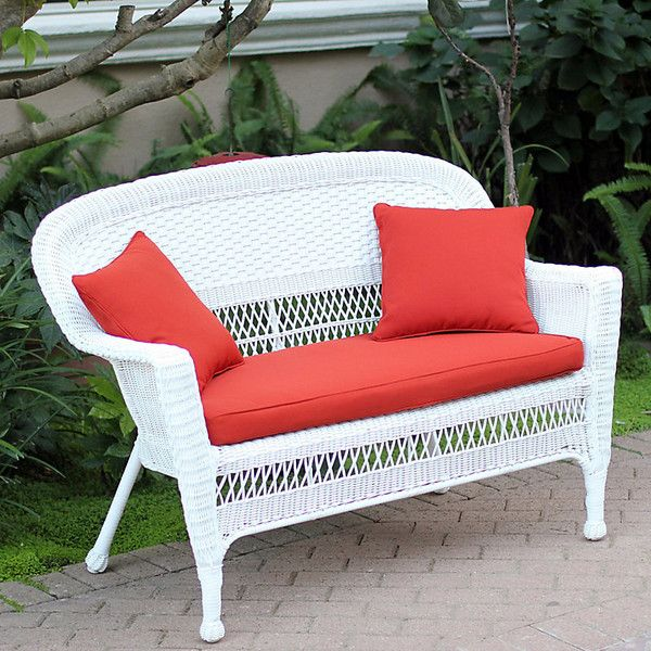 Hampton Hill Resin Wicker Loveseat With Cushion White (535 CAD) ❤ Liked On. Resin  Wicker Patio FurnitureOutdoor ... Part 31