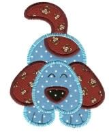 Crazy Spotted Dog Applique - 4 Sizes!