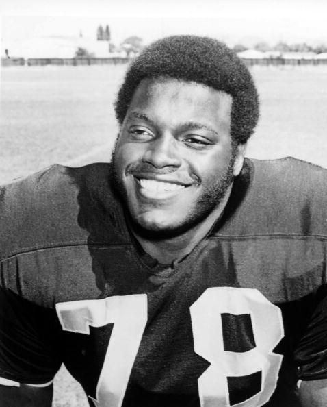 Oakland Raiders player Art Shell sits for a portrait