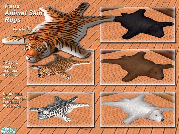 Windkeeper S Faux Animal Skin Rugs