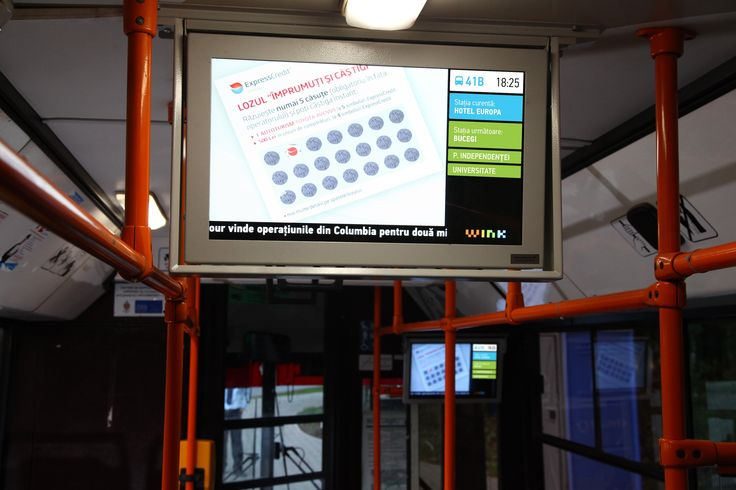 Digital signage / Public Transport / Tranzit: real time information #advertising #digital #OOH