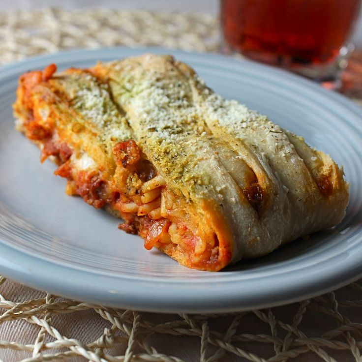 Baked Spaghetti Bread - this is probably not something you should do to yourself, but I would just the same