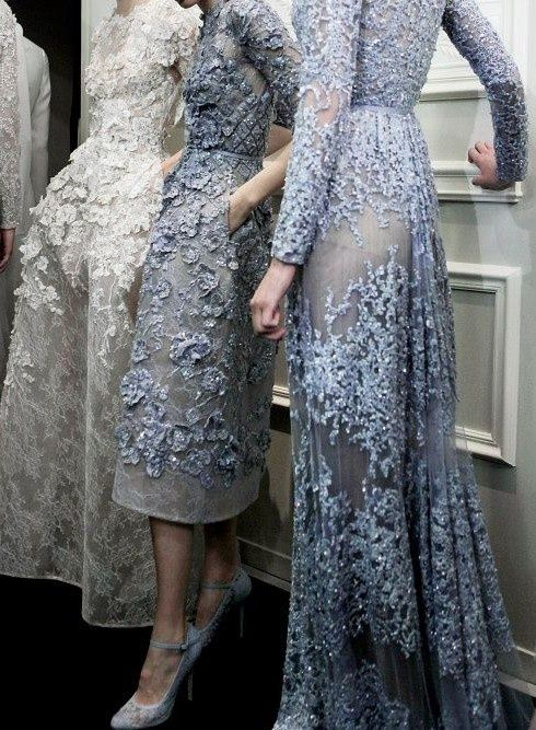Haute couture glitter and transparency